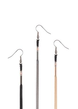 Simplicity Tie Ohrring Schwarz