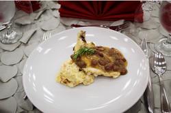 Roasted Chicken Moonshine Raisin Sauce 1