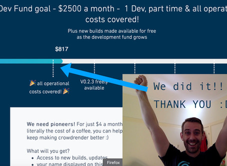 We did it :D !!! Development fund reaches first Goal!
