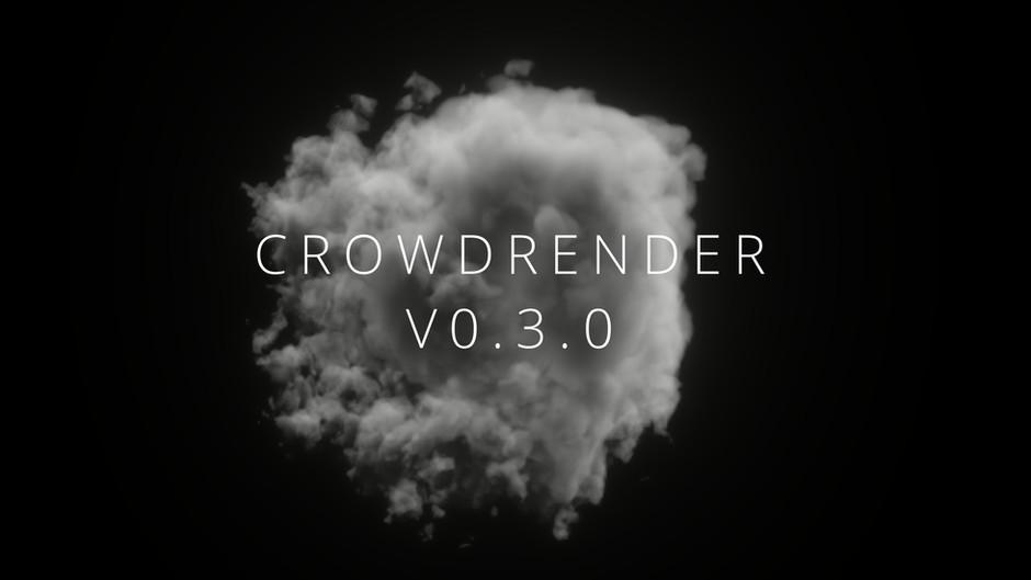 New UX for Rendering in Crowdrender