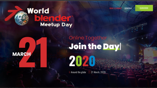 We're presenting at World Blender meetup day - You're invited!