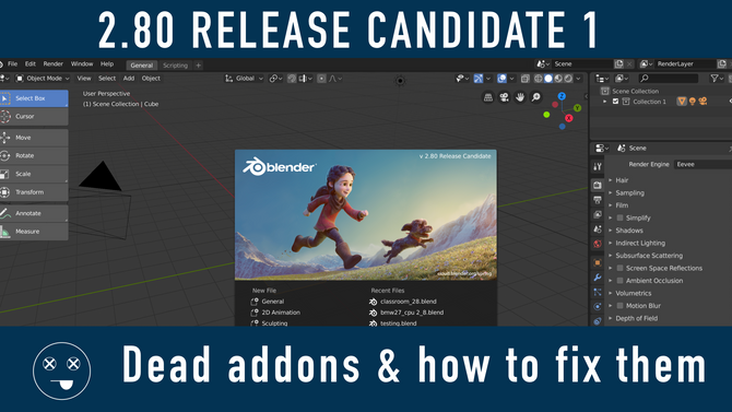 Work Around for addons not working on MacOS | Blender 2.80 RC1