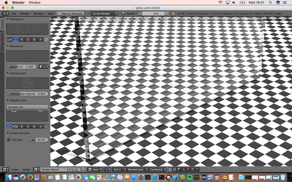 Ahhh alt text, how you test my originality... a 3d render of a glass plate on a checkered background. picture is worth a thousand words?