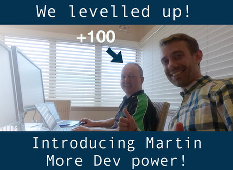 We levelled up :D (Re)Introducing Martin!