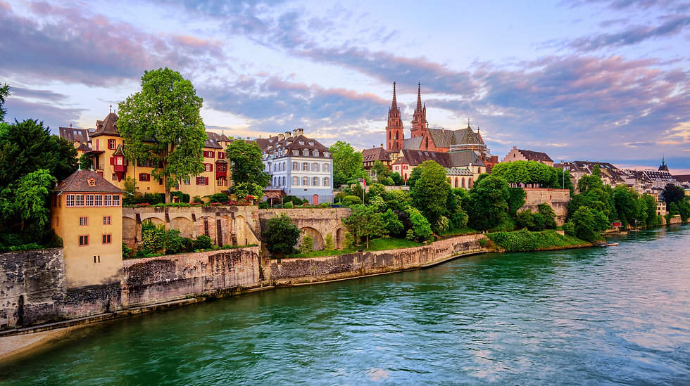 Panoramic view of the Old Town of Basel