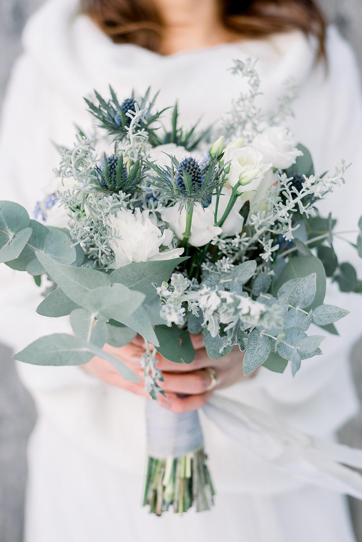 wedding bridal bouquet for winter,  Brautstrauß winter