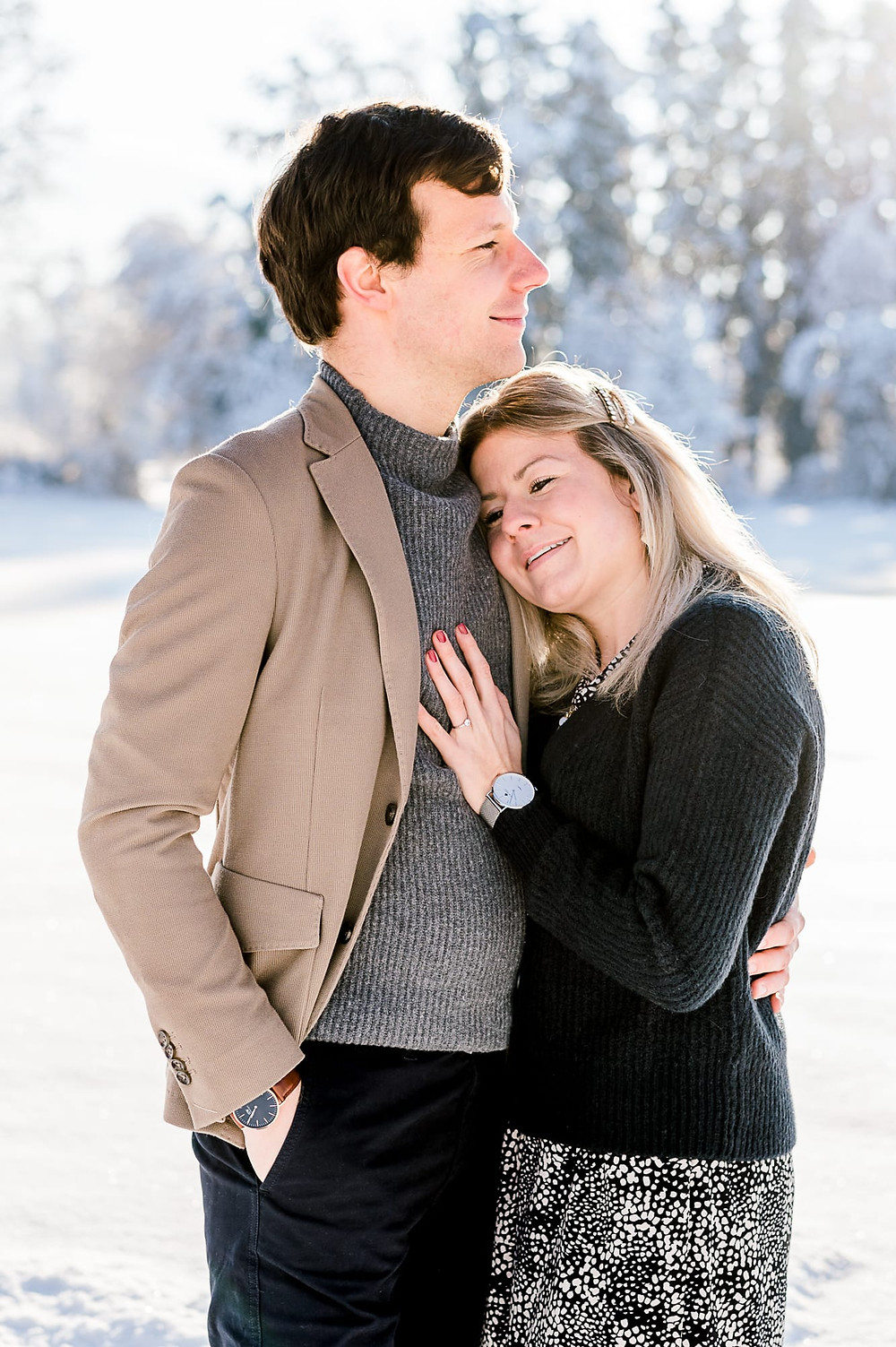 Engagement Session in Winter