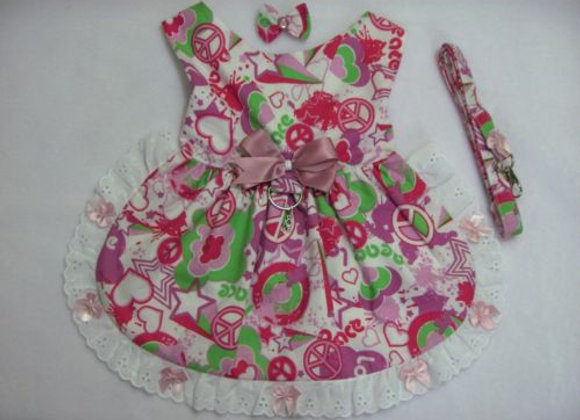 Green and Pink Dress/Harness