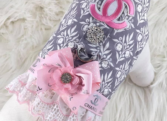 Pink and Grey Patterned Chanel Harness