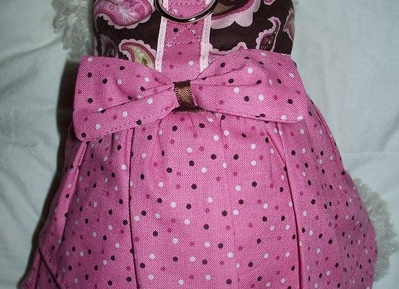 Pink & Brown Paisley Dress