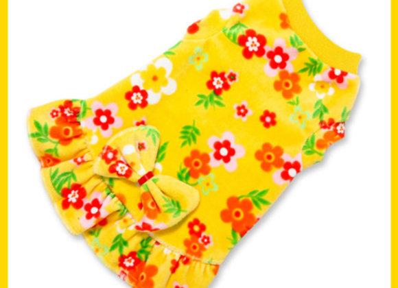 Yellow & Orange Floral Dress