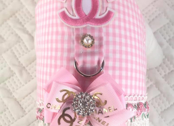 Pink Gingham Chanel Harness