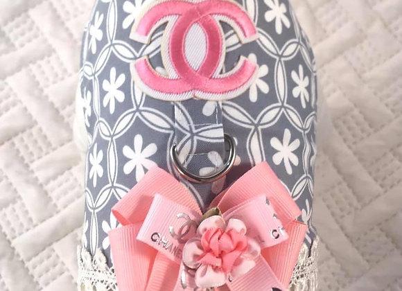Pink & Grey Designer Chanel Harness