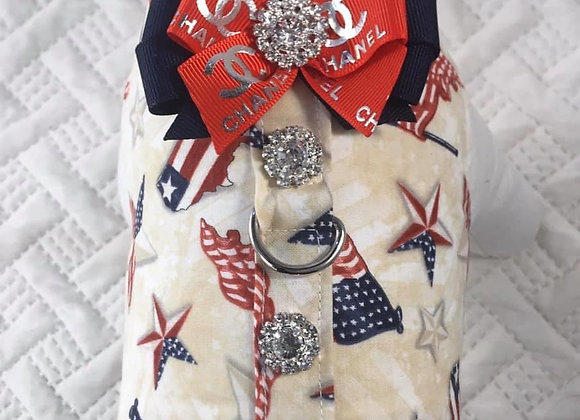 Patriotic Designer Chanel Harness