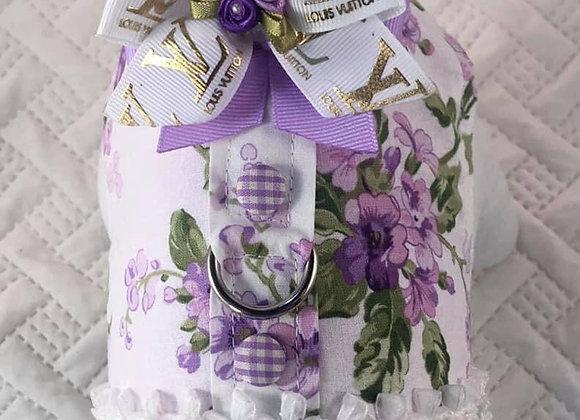 Purple Flower Louis Vuitton Harness