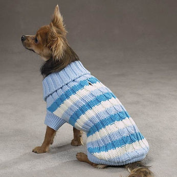 ZM4090 Striped Cable Blue Knit Sweater.j