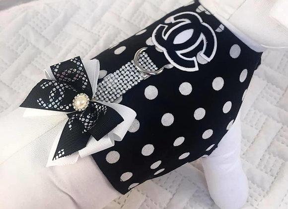 Black&White Polka-Dot Chanel Harness