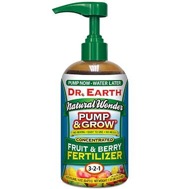 Dr Earth Pump & Grow Fruit & Berry Fertilizer 3-2-1
