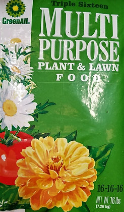 GreenAll Multi Purpose Plant & Lawn Food 16-16-16 (16lb bag)