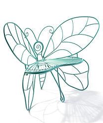Iron Blue Butterfly Garden Bench,KD