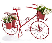 Iron Red Bicycle w/3Plant Hldrs.KD