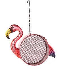 Metal Flamingo Bird Feeder
