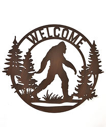 Iron Big Foot Wall Deco w/Welcome