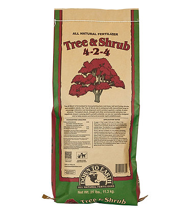 Down to Earth Tree and Shrub 4-2-4 (25lb bag)