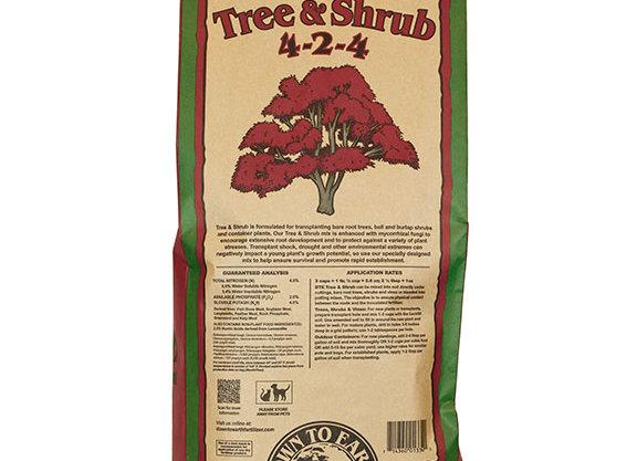 Down to Earth Tree and Shrub 4-2-4 (25lb bag)