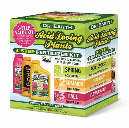 Dr Earth Acid Loving Plants 3-step Fertilizer Kit