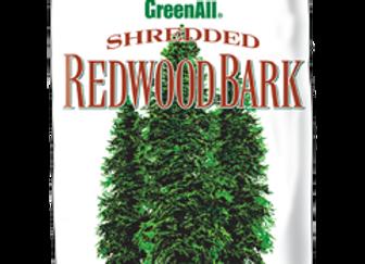 GreenAll Shredded Redwood Bark (3 cf bag)