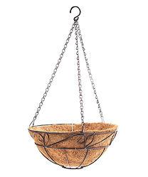 Iron/Coco Hanging Basket,24+PDQ