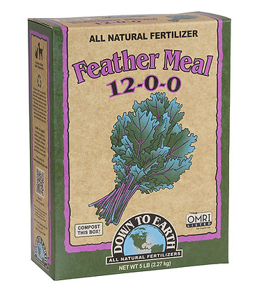 Down to Earth Feather Meal 12-0-0 (5lb box)