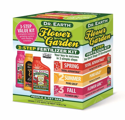 Dr Earth Flower Garden 3-step Fertilizer Kit