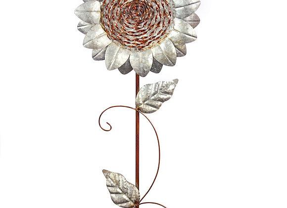 Metal Sunflower Garden Stake