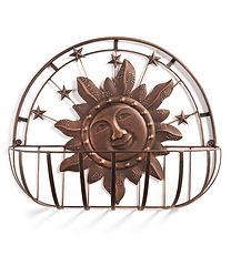 Iron Wall Basket w/Sun Design