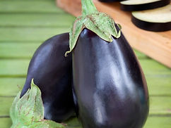 Tender, tasty purplish-black fruits are great in a variety of dishes. Excellent breaded or fried. Eggplants love warm weather but are damaged by cold. Plants produce 4 to 6 large fruit, or more if kept harvested and well watered. Fruit makes a good boat for stuffing. For best quality, harvest before its glossy, dark skin begins fading to dull purple. To determine ripeness, just remember that skin color and tone (glossy versus dull) is more important than size of the fruit. Easy to grow. Keeps well.