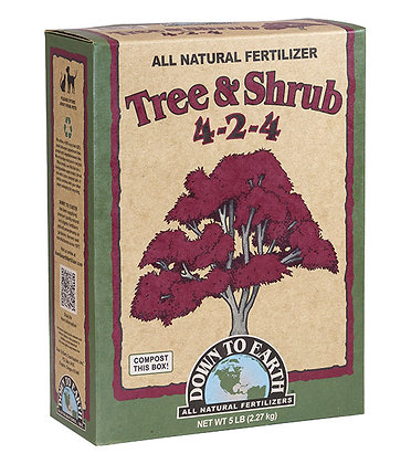 Down to Earth Tree and Shrub 4-2-4 (5lb box)