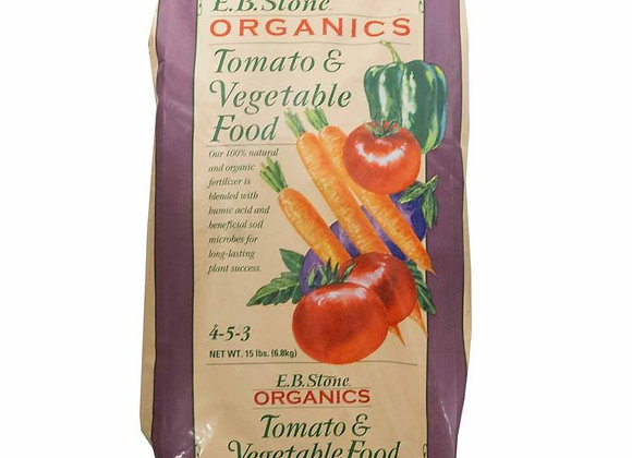 EB Stone Tomato & Vegetable Food 4-5-3 (15lb bag)