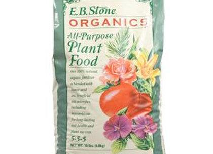 EB Stone All Purpose Plant Food 5-5-5 (15lb bag)