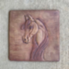 Horse Profile Wall Carving