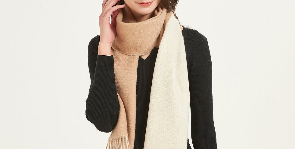 100% Organic Dual Colored Cashmere Scarves