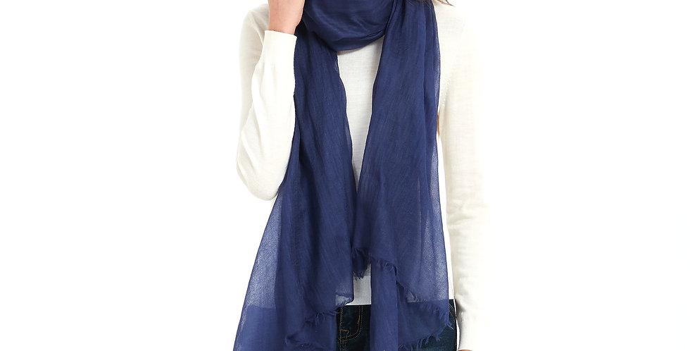 Luxurious Featherlight Cashmere Scarves / Shawls - Navy Blue