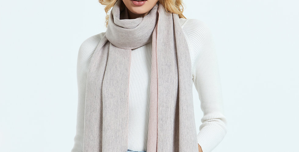 Large Organic 100% Cashmere Scarf & Wrap - Pearl River