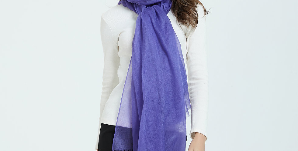 Luxurious Featherlight Cashmere Scarves / Shawls - blueviolet