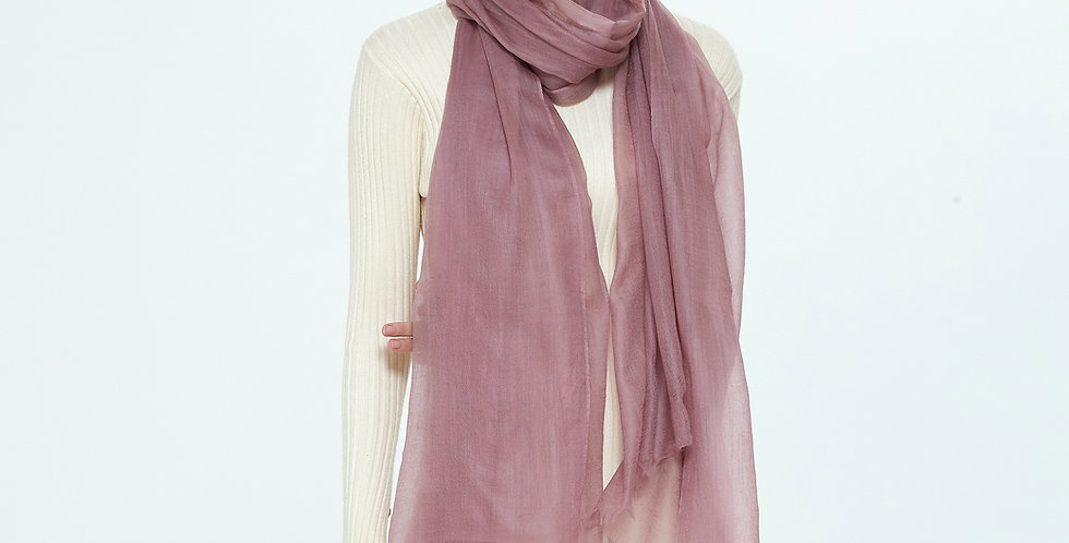 Luxurious Featherlight Cashmere Scarves / Shawls - oldrose