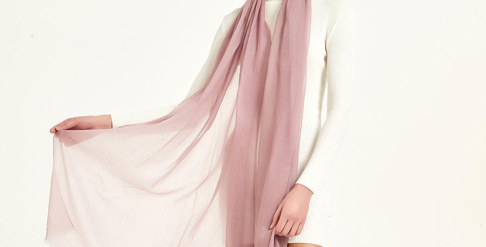 Luxurious Featherlight Cashmere Scarves / Shawls - Mistyrose
