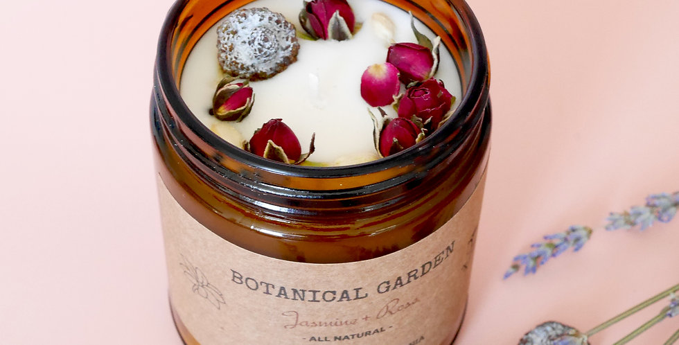 Botanical Garden Scented Aromatherapy Soy Candle |100% Essential Oil | Californi