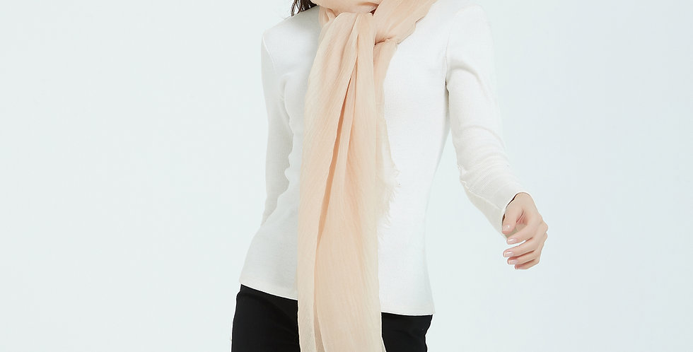 Luxurious Featherlight Cashmere Scarves / Shawls - Bisque