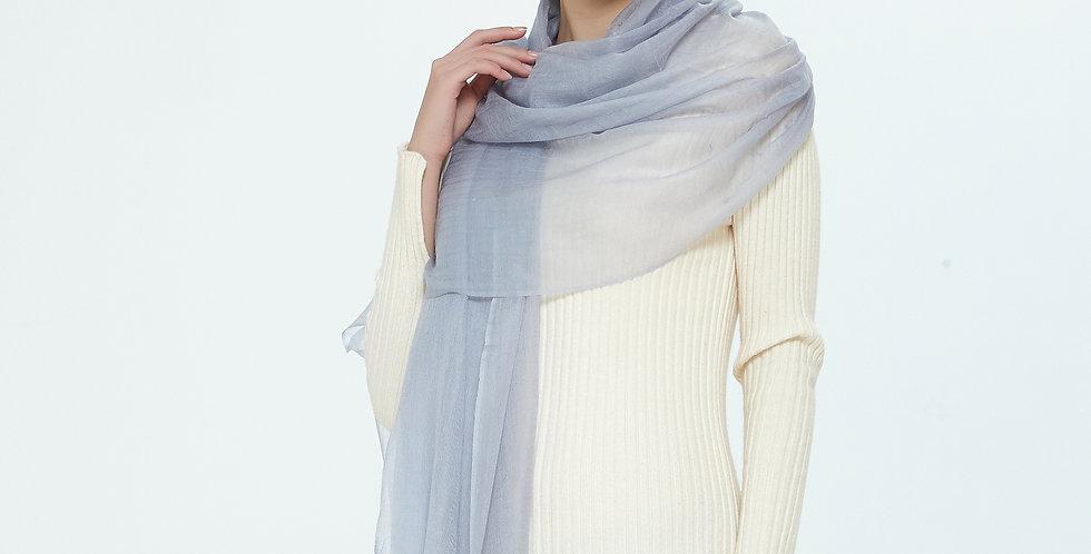 Luxurious Featherlight Cashmere Scarves / Shawls - Metallic Light Blue